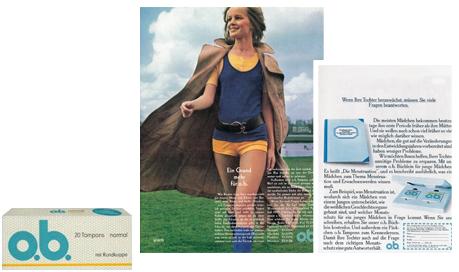 """o.b.® tamponger historie - ob® utvikler tampong """"Mini"""" (1972)"""