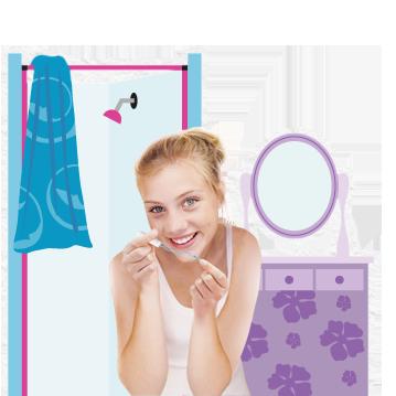 Bilde av en ung kvinne som holder en o.b.® tampong i hånden